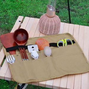 Storage Bags 2021 Square Portable Picnic Bag Outdoor Camping Barbecue Tableware Convenient Organizadores