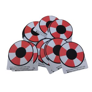 Customized Circle Round PVC Adhesive Sticker Label Printed White Vinyl Logo Color Stickers Waterproof Shinny Labels