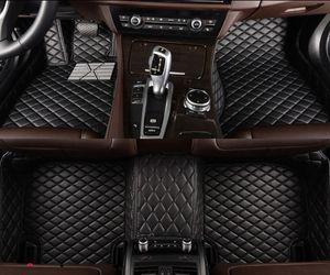 Mats de piso de carro de couro flash para Bentley Continental GT 2011-2018 pé almofadas de automóvel