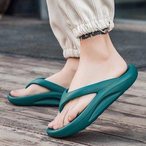 Fashion Platform Flip Flops Men Green Casual Men Summer Slippers Flip Flops Unisex Beach Slides Big Size chanclas hombre 210908