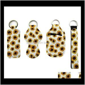 Custom Neoprene Wrist Keychains Strap Lanyard Party Favor Wristlet Keychain Key Holder Keyring Small Moq Ly Combine Chapstick Sanitize Yn5Vi