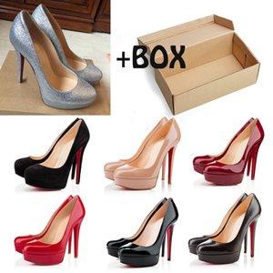 Red Bottoms High Heels Platform Round toes Sandals Luxury Designer Dress Wedding Shoes with box