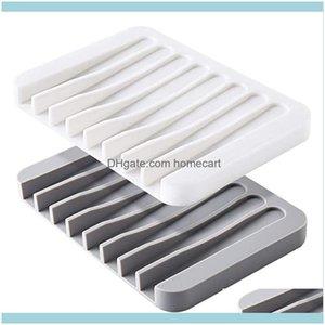 Soap Bath Home & Gardensoap Dishes Self Draining Premium Sile Holder Kitchen Sponge Brush Bathroom Aessories Drop Delivery 2021 Kpx2Q