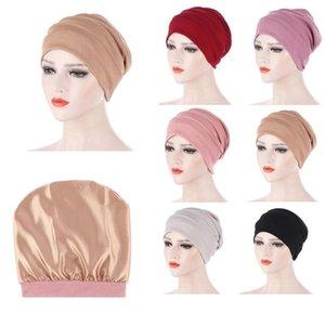 Mujeres elastic turbante sombrero musulmán hijab granos islámicos cáncer quimio gorra damas hijab estirar hijab gorra musulmán bufanda pañuelo en la cabeza