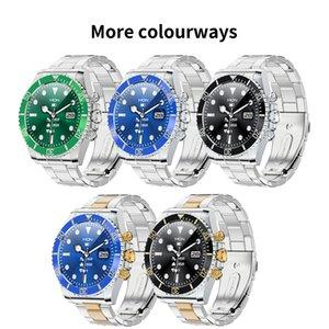 AW12 pro Smart Watch New Design Fashion Classic Men Stainless Steel watches Muli function IP68 Waterproof Bluetooth Wristwatch Green Ghost