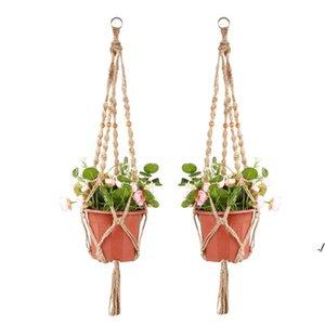 Plant Hangers Macrame Rope Pots Holder Ropes Wall Hanging Planter Hanger Basket Plants Holders Indoor Flowerpot Baskets Lifting DWE5874