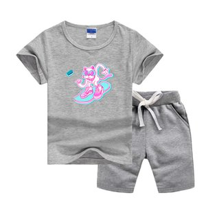 VS Brand Luxury Designer Baby Summer Clothes Set Printing Logo Kids Boy Girl Short Sleeve T-shirts and Pants 2Pcs Suits Fashion T-shirt Tracksuits Outfits