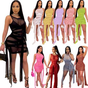 wholesale womens dresses sexy skinny tank top dress one piece set sexy bodycon enening luxury pullover dress high quality cubwear y515