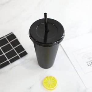 50 Pieces 24 oz beverage juice tumbler and straw magic coffee custom Starbucks plastic cups, you can customize the logo