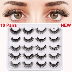 Eye Makeup 3D False Eyelashes 10 Pairs Handmade Lashes Set Dramatic Extension Natural Thick Soft Volume Wispy Faux Mink Eyelash 11 Styles DHL