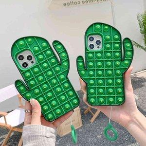Case For iPhone 12 11 Pro Max Mini XS X XR SE2020 7 8 Plus Cover Reliver Stress Pop Fidget Toys Push It Bubble Antistress