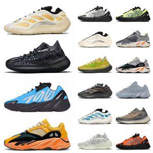 adidas yeezy 700 v3 380 shoes kanye west shoes جودة عالية الرياضة 700 كاني الاحذية الزبدون الأسود الجامعة الأزرق رجل جاو البرتقال المدربين أحذية رياضية الحجم