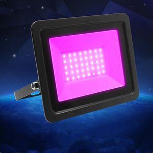 EU Plug Purple LED Flood Light Waterproof Projection Lamp AC110V 220VDJ Disco Night Club KTV Holiday Party Stage Lighting Floodlights