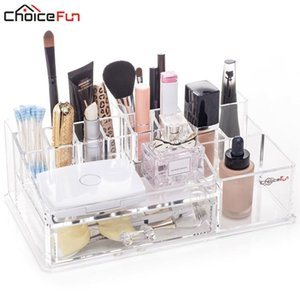 Bathroom Storage & Organization CHOICE FUN Stylish Plastic Cosmetic Organizer Acrylic Makeup Drawer Combinable Jewelry Box SF-20142