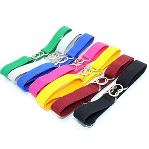 Children's Belt Boys And Girls Elastic Adjustable Pants Kindergarten Solid Color 8 Belts