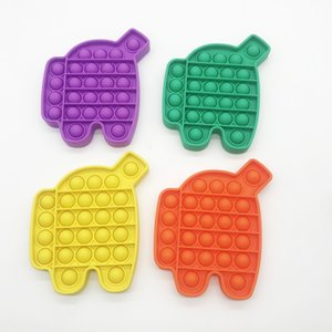 Finger Push Bubble Bambini Adulti Novel Fidget Simple Dimple Decompressione giocattolo Rainbow Robot luminoso Robot Desktop Puzzle Giocattoli 5 colori G39a8ji