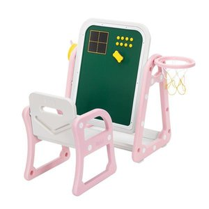 Kids Desk and Chair Set,Children's Double-sided Drawing Board Table and Chair Set with Shooting and Ferrule for Boys Girls