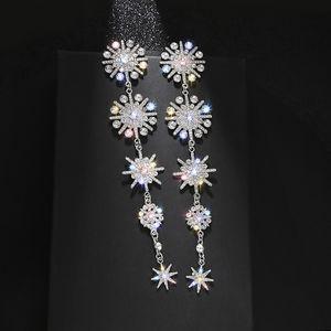 Super large exaggerated long Tassel Earrings female snowflake eight Star Earrings Korean net red temperament Fashion Earrings
