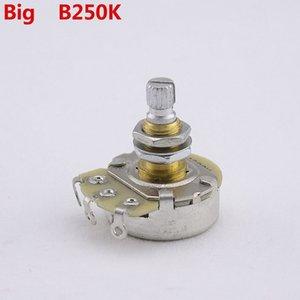 [Made in Korea]Alpha Brass Shaft Potentiometer(POT) For Electric Guitar Bass A250K B250K A500K B500K