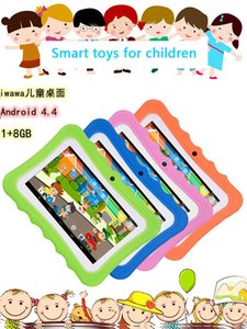 Hight Quality Q7 HD screen 7 inch 1+8G Quad Core children tablet Android 4.4 wifi bluetooth player speaker kid Puzzle learning UPS