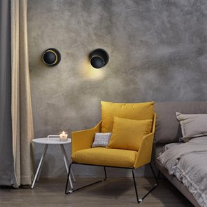 Wall Lamps Sconce LED Lamp 360 Degree Rotatable Round Plug In Spot For Stairs Living Room Bedroom Light Rotate Lighting