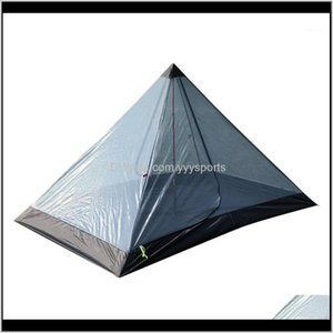Tents And Shelters Ultralight Pyramid Summer 12 Person Outdoor Camping Tent Repellent Net Beach Mesh Tents1 Gwv2G 6S83F