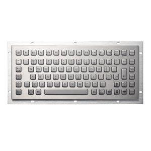 Keyboards 86 Keys Ruggedized Waterproof Mini Stainless Steel Compact Metal Industrial Keyboard For Kiosks CNC Machine