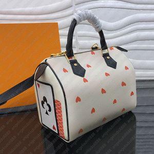 Luxury designer brand card pillow bag game logos heart printed monogramn women men handbags fashion shoulder bags speed 25 with strap box