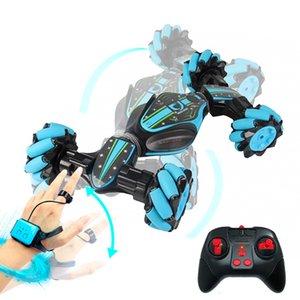 Global Funhood Gw124 Car Watch Remote Control Stunt Rc Car Gesture Sensing Twisting Vehicle Drift Car Children Driving Toy Gifts B1