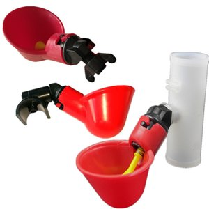 20 Pcs Chicken Drinking Cup Automatic Drinker Chicken Feeder Plastic Poultry Water Drinking Cups Easy Installation With Screws 604 S2