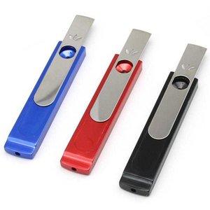 Creative Nouveau Métal USB Petite tuyau Multi-Color Spot Multi-Color Pipe et Tabac Ensemble Mini Tuyau de combustion sec Tri-Couleur Cheveux mélangés