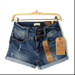 High Quality Women Summer Shorts Womens Denim Jeans Sexy Waist Skinny Fit Stretchy Cotton Hole Girl Casual