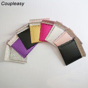 100pcs 15x13cm Colorful Bubble Envelope Self Adhesive Bubble Mailer Bag Shipping Mailing Foam Envelopes Bags Business Supplies