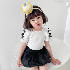 Arrival Girls Backless Bow T Shirt Summer Short Sleeve Fashion Top Tees Kids Clothes 1-6 Years T-shirts
