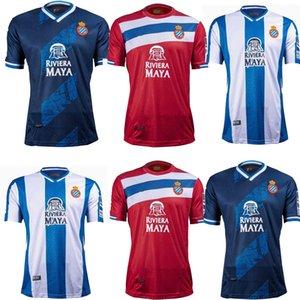 Top Calidad 2021 2022 RCD Espanyol Men Fútbol Jersey Home B. Iglesias Igiesias 21 22 P.Piatti Baptistao Camisa de fútbol español