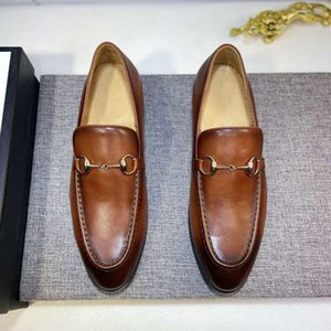 Men classic business Office dress shoes handsome Glitter Chains real leather soles Charming Fashion and leisure style Italian styles cowhide large size