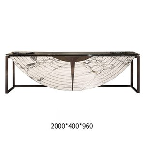 Special shape peculiar Beautiful living room Furniture Solid wood Metal practicable White Gold Porch desk For Home Restaurant hotel