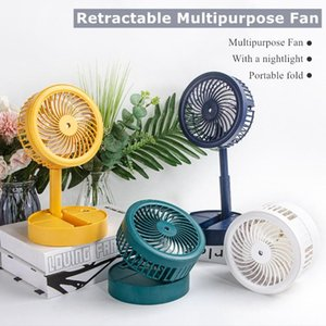 Electric Fans USB Charging Fan Nightlight Portable Folding Humidifier Mobile Phone Stand Multi-function