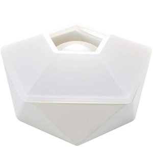 Resin Silicone Diy Art Molds Including Round,Square,Hexagon For Concrete  Flower Pot Ashtra Jewelry Pouches, Bags