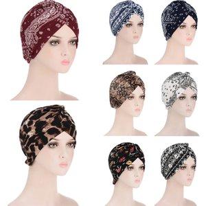 Мусульманский головной убор в тюрбан для женщин Распечатать Внутреннее Hijab Caps Arm Wrap Hijab Femme Musulman Исламская Главная Шляпная Шляпа