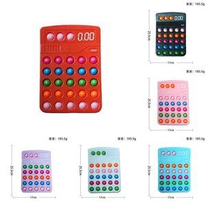 25.5CM large calculator shape push bubble fidget toys poo-its sensory anti anxiety decompression Xmas adult kids children's stress relief finger toy G95DZ56
