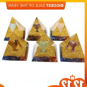 Orgonite Natural crystal Yoga Angel Energy Decoration Pyramid resin Ambitious Feng Shui Ornaments Transfer Home Woonkamer
