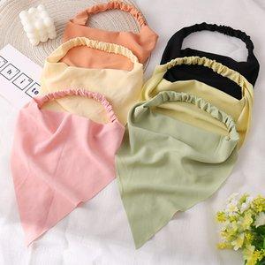 Solid Macaron Color Headbands Women Triangle Hair Scarf Elastic Band DIY Turban Bandana Headwrap Headband For Jewelry Accessories