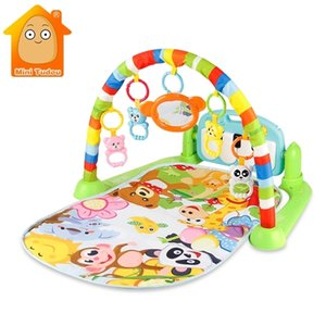 Baby Gym Tapis Puzzles Mat Eonal Rack Toys Music Play With Piano Keyboard Infant Fitness Carpet Gift For Kids 210924