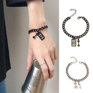 Fashion Couple Bracelet For Lovers Creative You Me Stainless Steel Braslet Adjustable Link Chain Braclet HIphop Rock Joyas Charm Bracelets