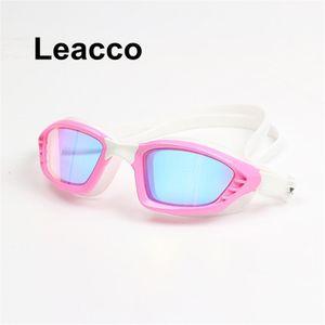 Novo Profissional Grande Moldura Plating Nadada Óculos de Vidro Mulheres Óculos de Natação Óculos com Caso Wmtwld Powerstore2012