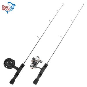 RoseWood Mini Ice Winter Fishing Rod Combo Outdoor Sport Pole 24UL 25L 26ML With Spinning Reel