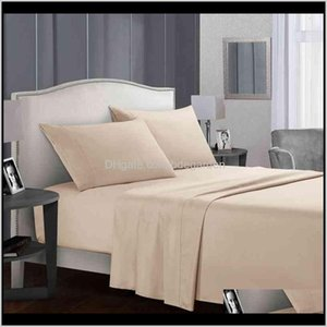 Home & Garden Drop Delivery 2021 Solid Color Sheet Mattress Cover Standard Classic Twin Full Queen King Bedsheet Textiles Bedding Supplies Sh