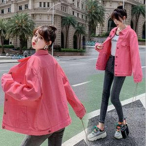 Spring fashion Paris Korean version of women's denim jacket, male couple design hip-hop street style