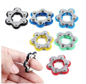 12 section Good Quality Roller Bike Chain Fidget Toy Stress Reducer for ADD ADHD Anxiety Autism Adults Kids Decompression Toys FY7622